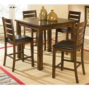 welton franklin iii 5 piece rustic counter height dining