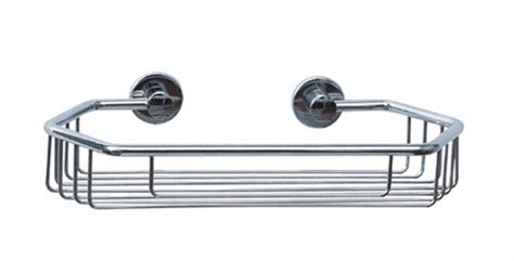 11 Quot Chrome Shower Caddy And Includes The Nie Wieder Bohren No Drill Bathroom Accessories