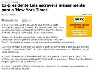 New York Times Mba Internship by Que Virou Manchete Panis Ovum Colunista