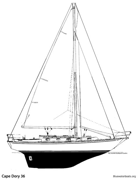 how to draw a dory boat the cape dory 36 sailboat bluewaterboats org