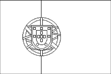 Portugal Flag Coloring Page Sketch Coloring Page Portugal Flag Coloring Page