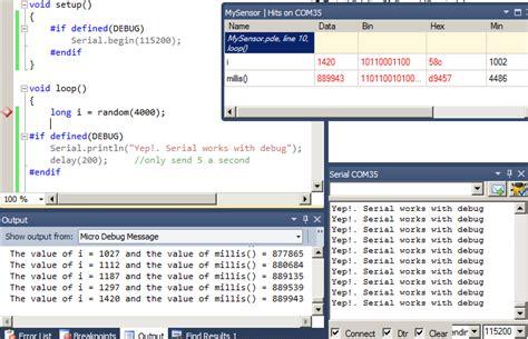 arduino code debug arduino debug