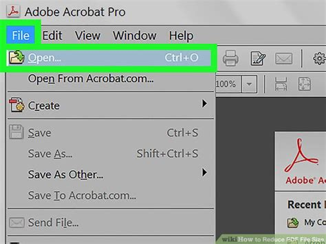compress pdf in acrobat pro 3 ways to reduce pdf file size wikihow