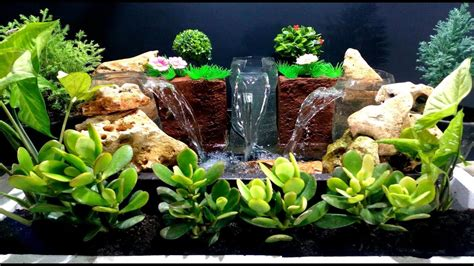 triple waterfall fountain  plastic bottles