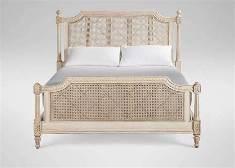 cane headboard full tan woven cane panels bed