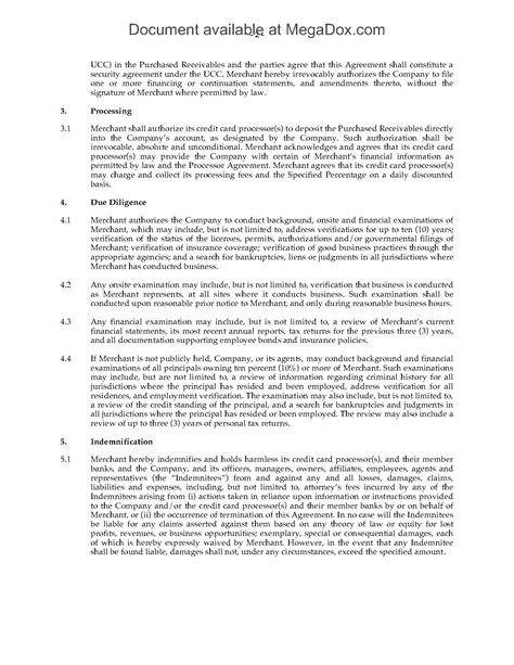 usa merchant advance agreement forms and business templates megadox