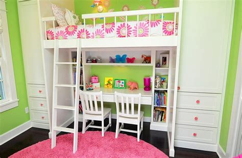 girls bedroom ideas bunk beds loft beds with desks underneath 30 design ideas with