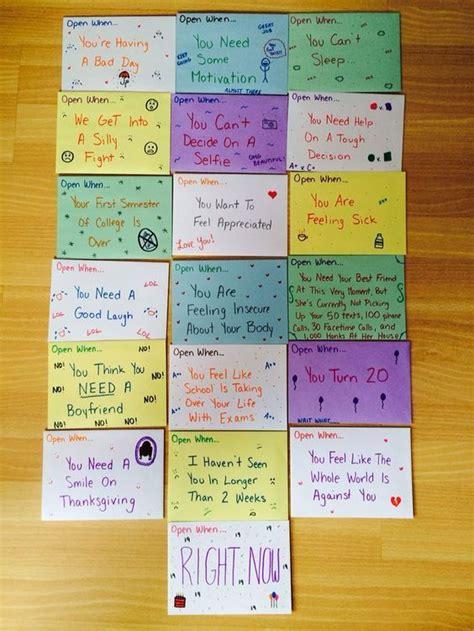 Gift Letter To Friend 25 Best Open When Letters For Best Friend Ideas On Best Present For Boyfriend Best