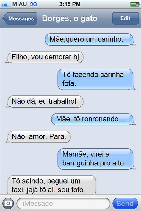 Phone Text Meme - meme do iphone borges o gato