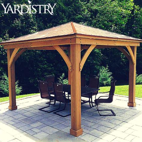 wood gazebo  aluminum roof     premium