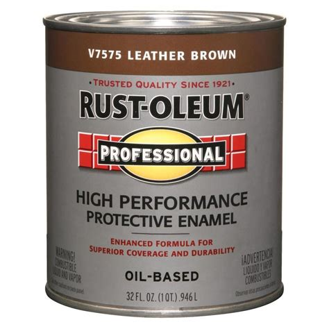 shop rust oleum professional leather brown gloss enamel interior exterior paint actual net