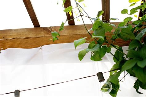 how to make your own pergola make your own outdoor pergola curtains a beautiful mess