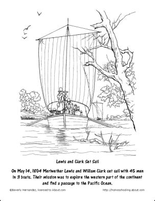 Free Lewis and Clark Printable Worksheets and Coloring
