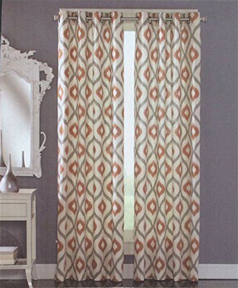 cynthia rowley curtain panels cynthia rowley grommet top pair of curtains in gray rust