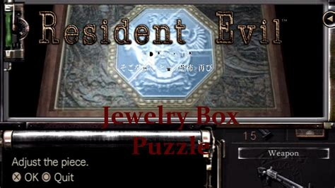 resident evil hd remaster jewelry box puzzle 1080p