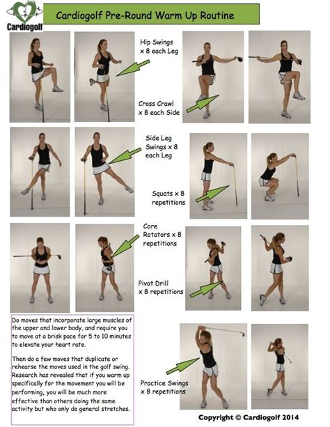 best exercises for golf swing cardiogolf pre round warm up routine to learn how to do