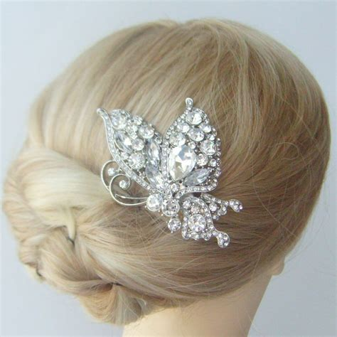Wedding Hair Accessories Butterfly by Wedding Hair Accessories Rhinestone Wedding Hair Comb