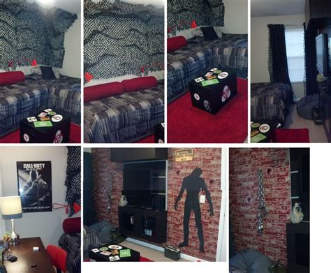 black ops bedroom decor black ops zombie camoflage red rug teen boy bedroom