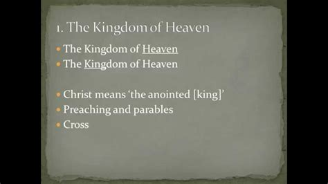 themes of the kingdom of heaven mathew themes the kingdom of heaven youtube