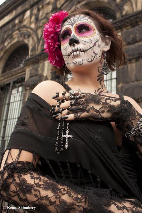 cool  de los muertos sugar skull makeup art examples hative