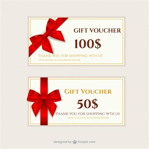 gift vouchers pack vector free download