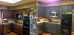 Chalk Paint Kitchen Cabinets Before And After Chalk Paint Kitchen Cabinets Home Interior Design Ideas Home Interior Design Ideas