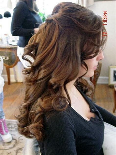 bridesmaid hairstyles half up half down with curls and braids wedding hairstyles for long hair half up half down