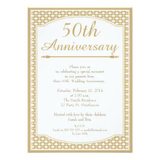 7 000 50th anniversary invitations 50th anniversary announcements invites zazzle