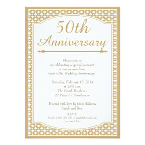 50th wedding anniversary invitations free templates 7 000 50th anniversary invitations 50th anniversary