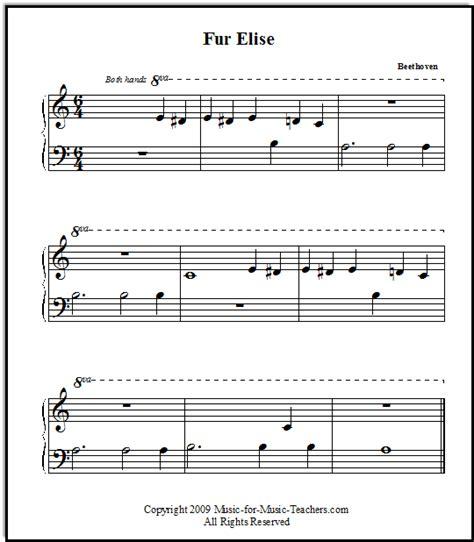 tutorial piano fur elise fur elise free printable sheet music