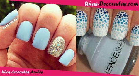 imagenes uñas decoradas con gelish u 241 as decoradas en azul dise 241 os fotos y consejos