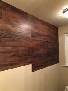 wood wall bathroom faux wood wall hometalk
