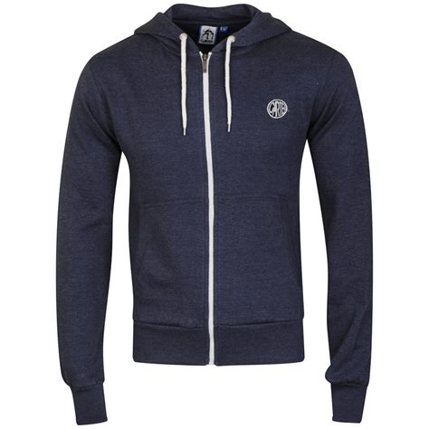 Jaket Zipper Hoodie Sweater Hardwell Navy s routine zip through hoody navy white mens clothing zavvi