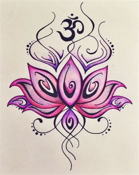 lotus tattoo with om symbol om symbol lotus flower tattoo www imgkid com the image