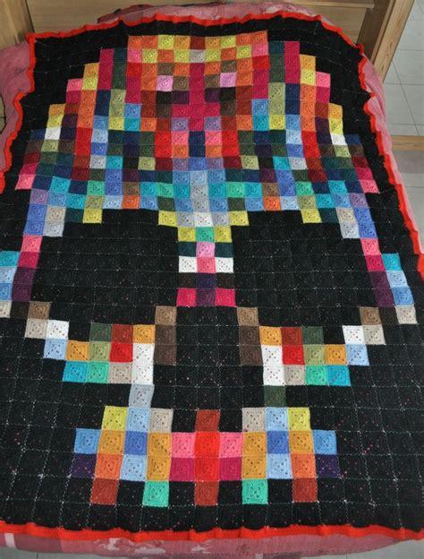 Skull Quilt Pattern by Top 25 Best Pixel Crochet Blanket Ideas On