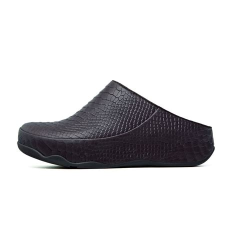 slip on clogs for fitflop gogh moc snake in chocolate from mozimo