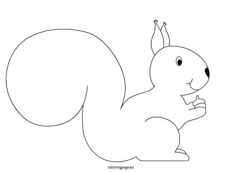 squirrel template squirrel coloring page