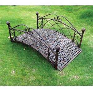 garden odyssey 4 ft metal riverstone garden bridge at