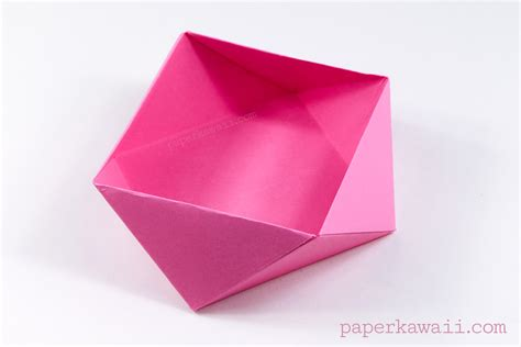 Origami Square Box - traditional origami square bowl box