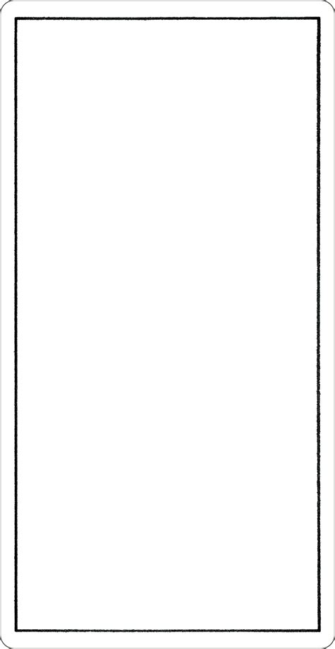 Blank Card Deck Template by The Blank Card Tarot Yoav Ben Dov