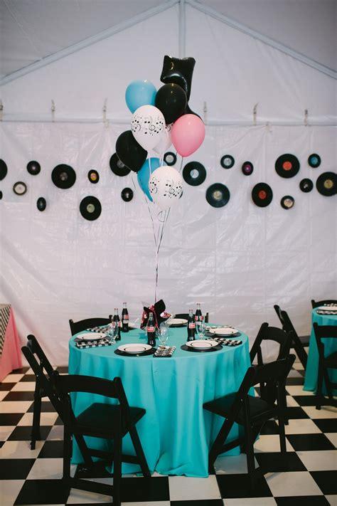 1950s theme decorations wedding event tablescape 1950 s theme 1950 s