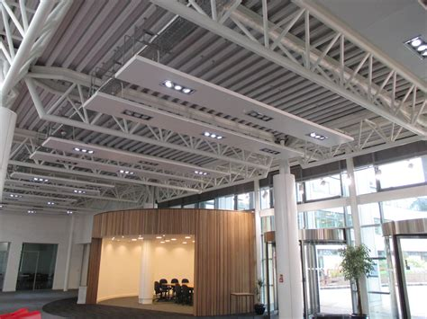 Radiant Panels Ceiling by Bespoke Multi Service Rafts Solray Radiant Heating