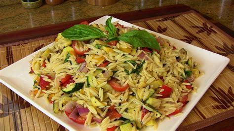 pasta salad vegetarian grilled vegetable orzo pasta salad vegetarian recipe