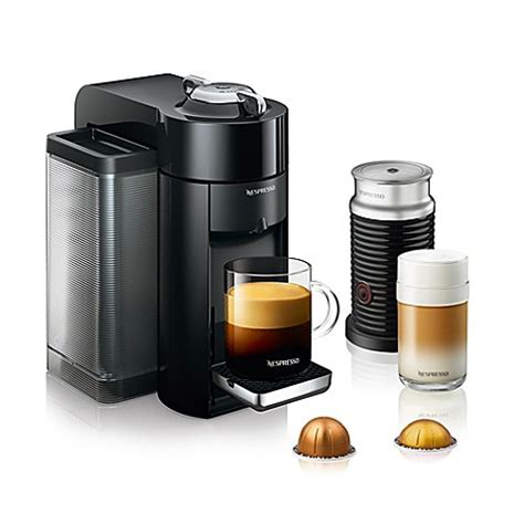 bed bath and beyond nespresso nespresso 174 by de longhi evoluo coffee and espresso maker bundle with aeroccino