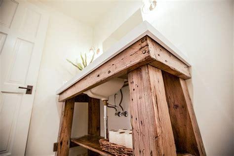 Reclaimed Wood Bathroom Sink   Porter Barn Wood