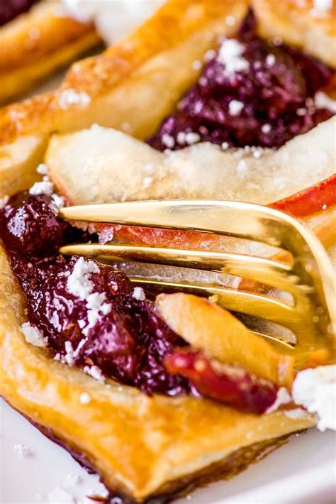 cranberry apple puff pastry tarts homemade hooplah