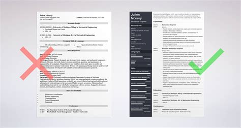Mechanical Engineering Resume Templates by Mechanical Engineering Resume Guide With Sle 20