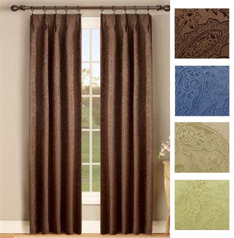 pinch pleat thermal curtains gabrielle thermal insulated foam back pinch pleat pair