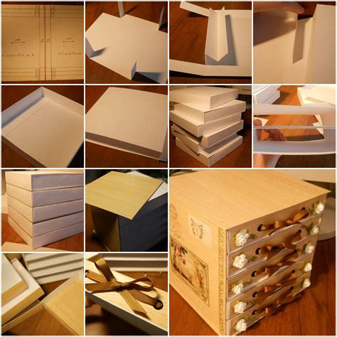 carding tutorial with sites and bins how to build cute cardboard chest storage bins step by