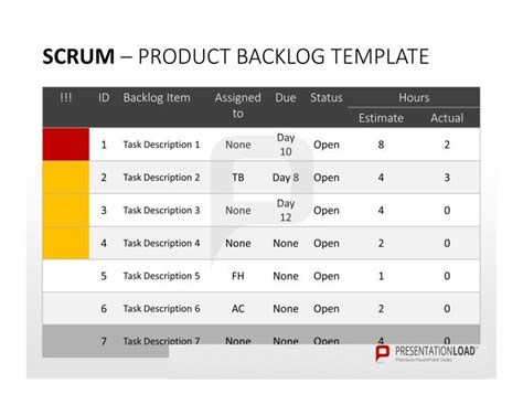 scrum f 252 r powerpoint diese sprint backlog vorlage f 252 r